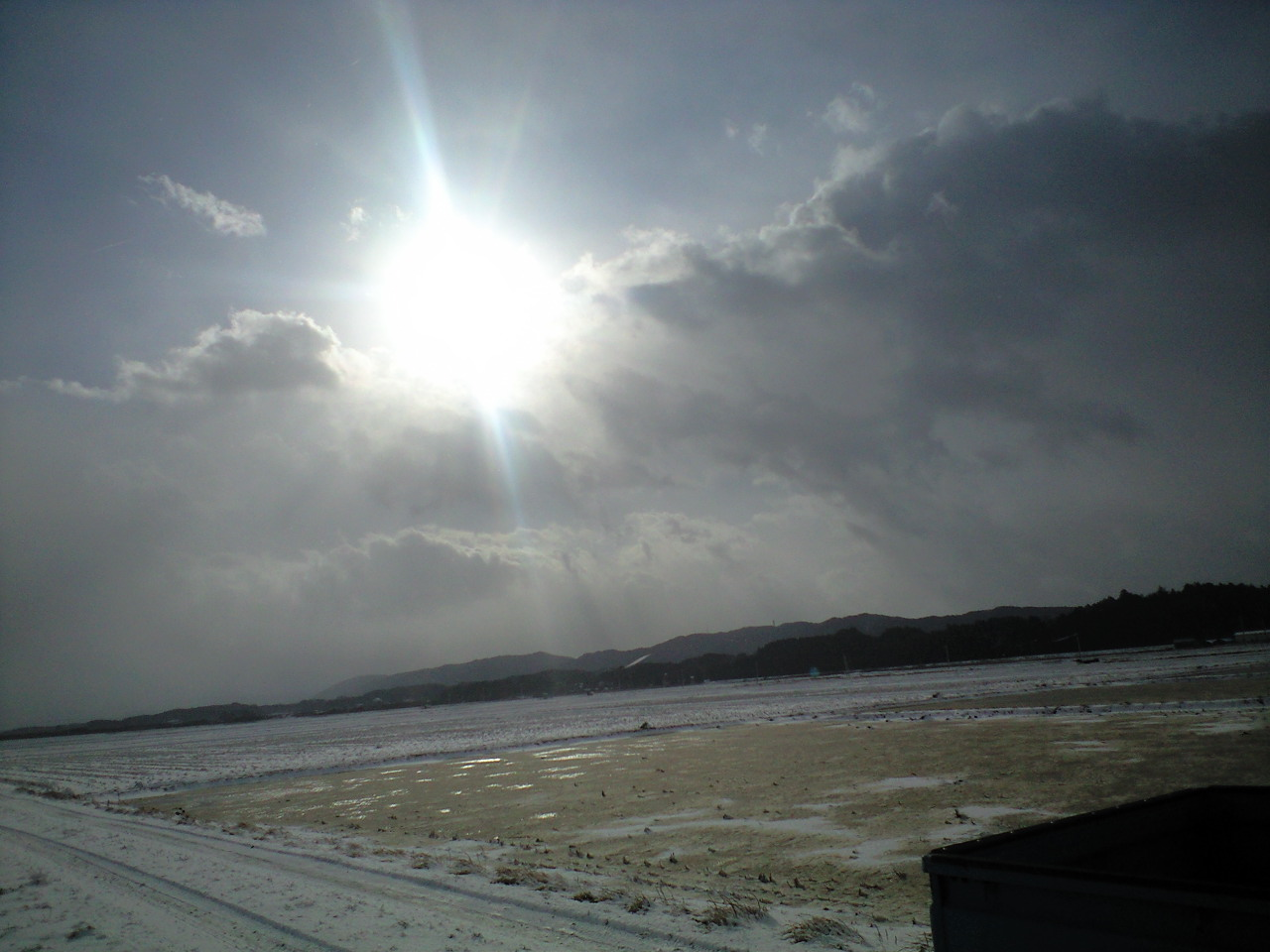 降雪の晴れ間
