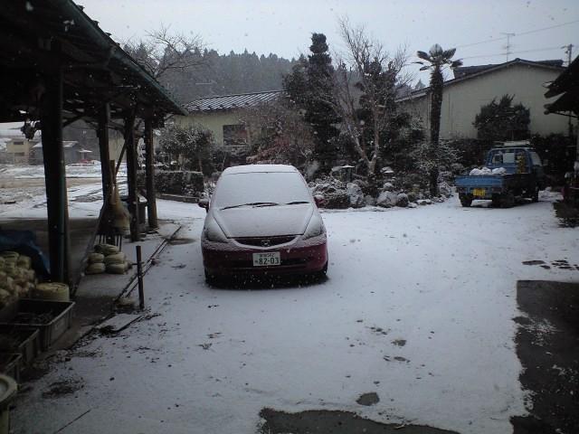 うっすら雪