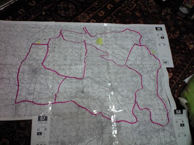 雁調査地図作り