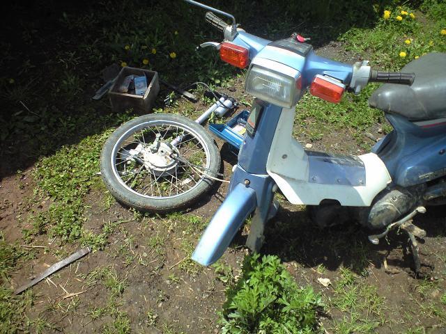 棚田見回りバイク